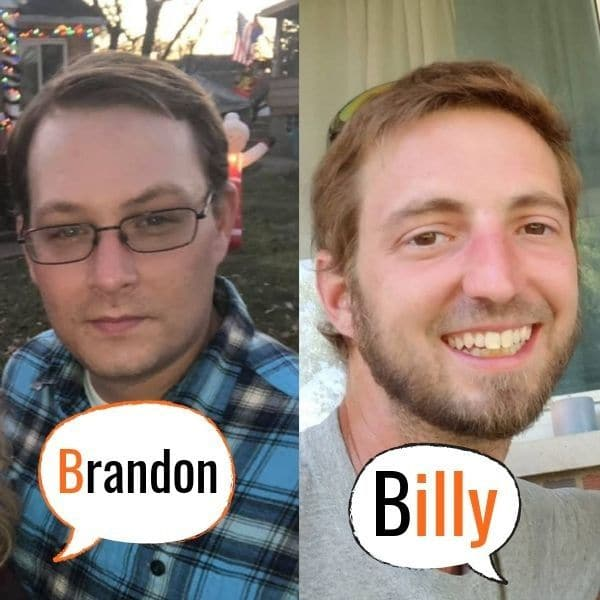 Billy and Brandon Head Shots