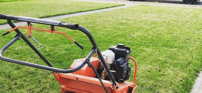 Lawn Aerating 2